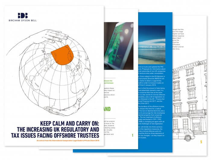 Brochure Image: the increasing UK regulatory and tax issues facing offshore trustees